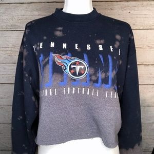 NFL Tennessee Titans Bleached Cropped Sweatshirt